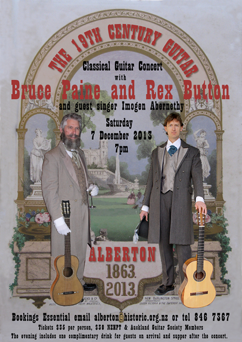"""The 19th Century Guitar"" Alberton Concert Poster December 2013"