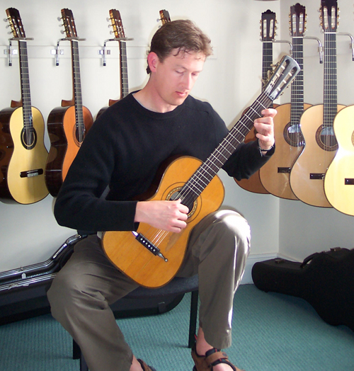 Bruce Paine playing an 1827 Louis Panormo guitar
