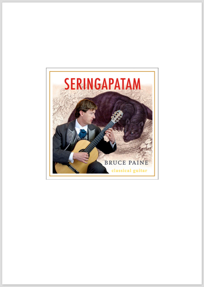 Picture of Seringapatam sheet music cover page